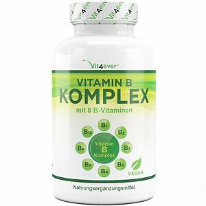 Vitamin-B-Komplex-500-Tabletten-vegan-B1-B2-B3-B5-B12-Biotin-Folsaeure