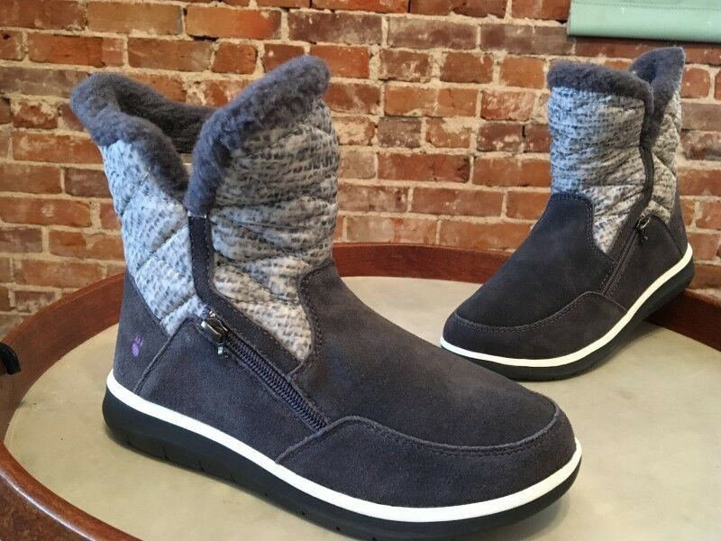 Bearpaw Grau Suede Shearling NeverWet Katy Katy NeverWet Snow Winter Ankle Boot 7 New 889c6b