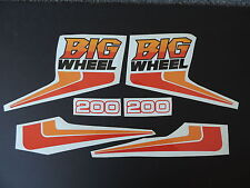 1986 YAMAHA BW 200 BIG WHEEL COMPLETE DECAL KIT VINTAGE MOTOCROSS