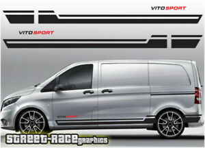 590f82bf50 Image is loading Mercedes-Vito-racing-stripes-021-decals-vinyl-graphics-
