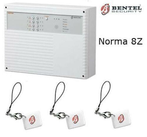 CENTRALE ALLARME 8 ZONE NORMA 8T BENTEL ANTIFURTO PER CASA