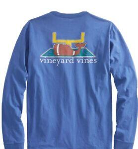 Vineyard-Vines-Women-039-s-LS-Touchdown-Whale-T-Shirt-Tide-Blue-Size-M-NEW