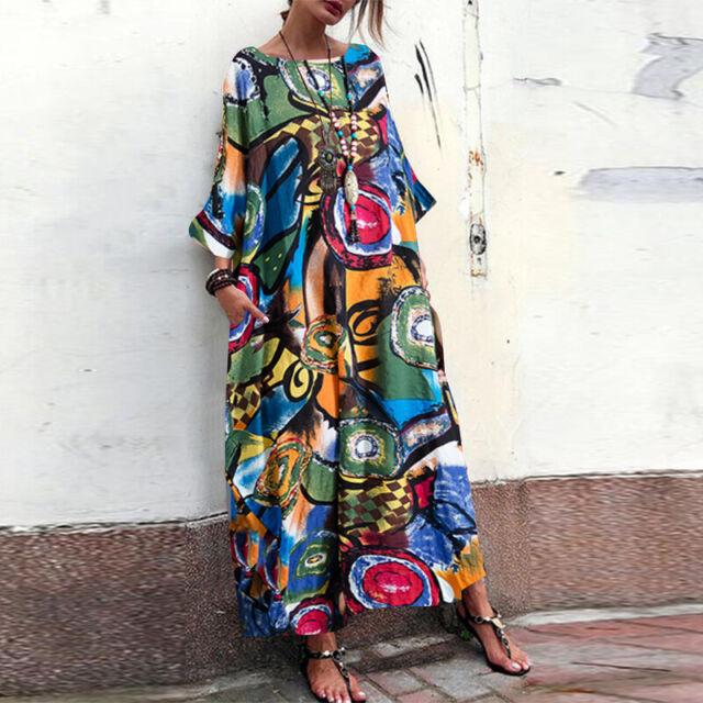 By Alina Damenkleid Maxikleid Strandkleid Chiffon langes Volant Kleid XS S M