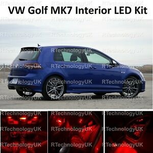 Prima-Rojo-VW-Golf-MK7-MkVII-GTI-12-19-Bombillas-LED-Luz-Interior-Completo-Kit-Set