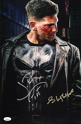 "Entertainment Memorabilia jsa Coa Sensible Jon Bernthal+1 Authentic Hand-signed/sketch ""the Punisher"" 11x17 Photo Television"