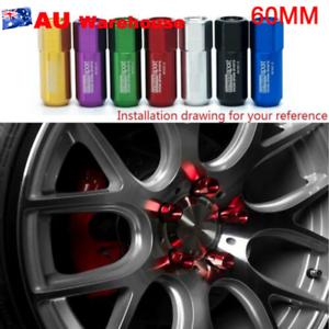 Universal-20PCS-M14X1-5-60MM-Aluminum-Tuner-Lug-Nuts-For-HONDA-BMW-FORD-Silver