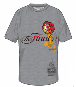 Men-039-s-Toronto-Raptors-Mitchell-amp-Ness-Hug-The-Trophy-The-Finals-Logo-Grey-Shirt