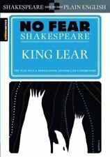 KING LEAR (No Fear Shakespeare) FREE SHIPPING paperback book SparkNotes