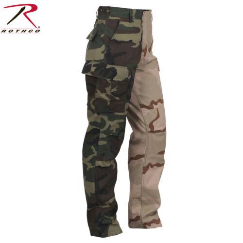 Rothco Two-Tone Camo BDU Pant Woodland /& Tri-Color Camo Two-Tone Army Fatigues