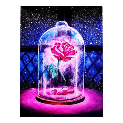 5D DIY Diamond Painting Rhinestone Pictures Of Crystals Kits Rose in Bottle