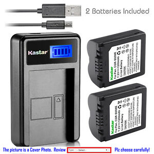 Kastar-Battery-LCD-Charger-for-Panasonic-CGA-S006-amp-Panasonic-Lumix-DMC-FZ7