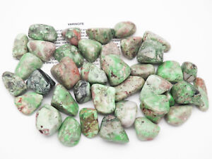 1 VARISCITE tumbled stone Lucin RARE Utah pouch sz L 8.1 to 15 g
