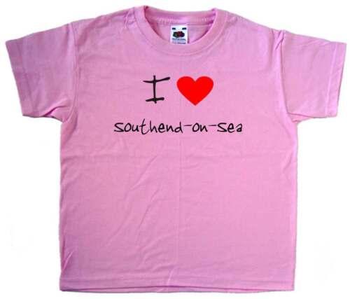 I Love Heart Southend-on-Sea Pink Kids T-Shirt