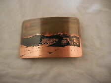 Classic to Vintage Tru West Rockmount Ranch Wear Solid Copper Belt Buckle