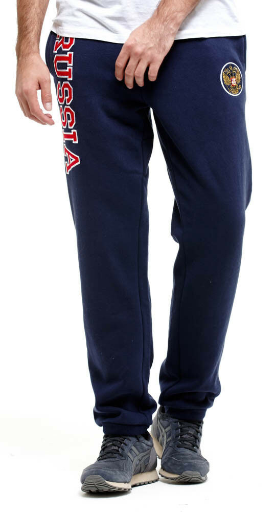 Russia Fleece Sports pants, w coat of arms imperial eagle