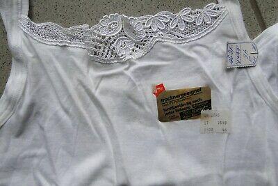 Nett True Vintage Unterhemd Weiß 46 Neu