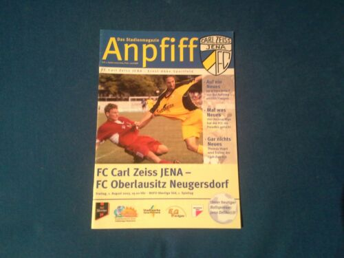 FC Oberlausitz Neugersdorf 03/04 Programm Carl Zeiss Jena Fußball
