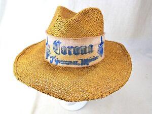 7f7ea692a5645 Image is loading Vtg-Corona-Tijuana-Mexico-Straw-Hat-Size-6-