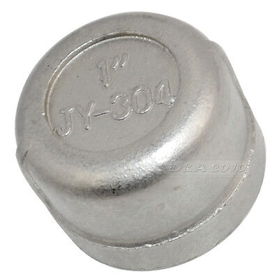 """Stainless steel Pipe fitting Cap 1"""" threaded Type 304"""