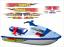 thumbnail 1 - YAMAHA WAVERAIDER 1996 1100 RED Graphics / Decal Replacement Kit