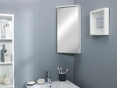 White Mirrored Mirror Corner Storage Cabinet Cupboard Unit High Gloss Finish Ebay