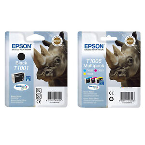 Genuine Epson T1006 Rhino Multipack Ink Cartridges(T1001 T1002 T1003 T1004)