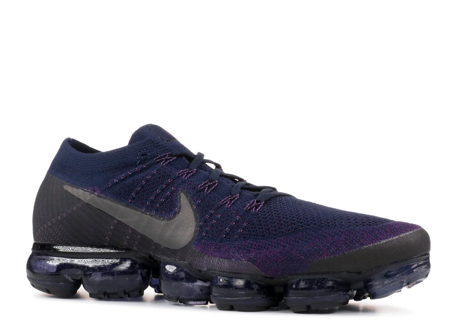 Nike Air Vapormax NikeLab QS Flyknit Purple Navy bluee Black 899473 402 Size 10.5
