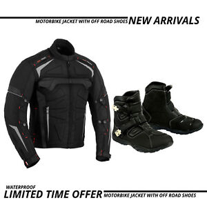 Motorbike-Cordura-Textile-Jacket-Coat-Motorcycle-Racing-Off-Road-Boots-Adventure