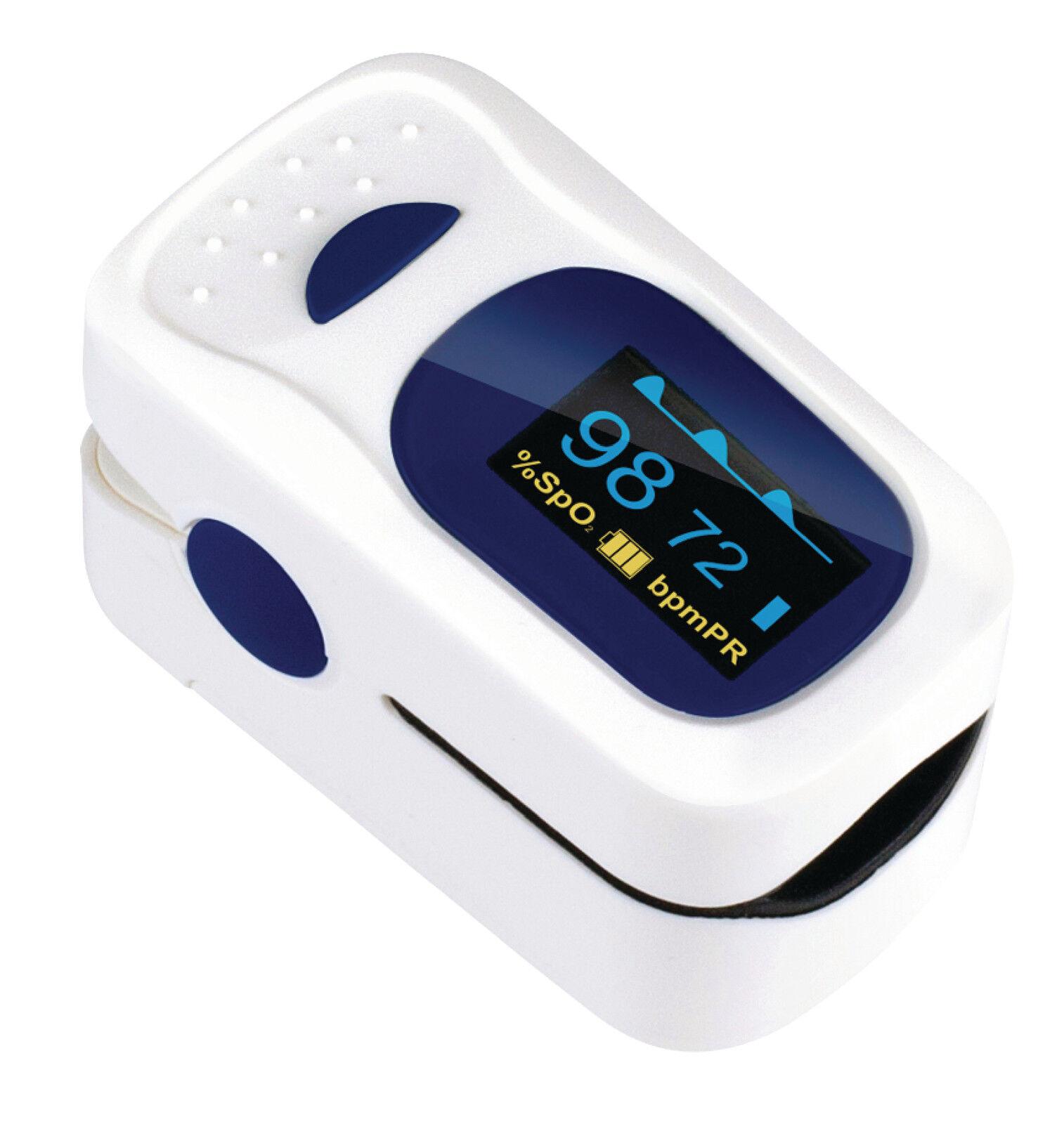 Oxígeno Probeta Medida Pulso Ritmo Frecuencia Cardíaca Tasa Oxígeno Oxigenación