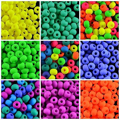 Czech Pressed Glass 50pcs 6mm NEON Round Beads CHOOSE COLOR UV-Active