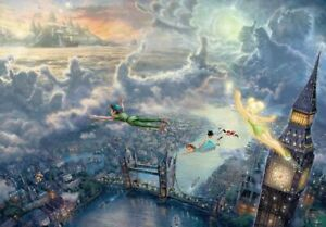 1000-Piece-Jigsaw-Puzzle-Peter-Pan-Tinker-Bell-and-Peter-Pan-Fly-to-Never-Land