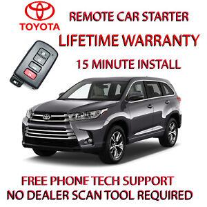 2014 2019 Toyota Highlander Remote Starter Easy Install For Smart