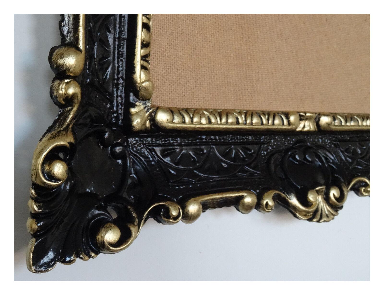 Schwarz Gold Bilderrahmen Fotorahmen Bild Foto Rahmen mit Glas ...