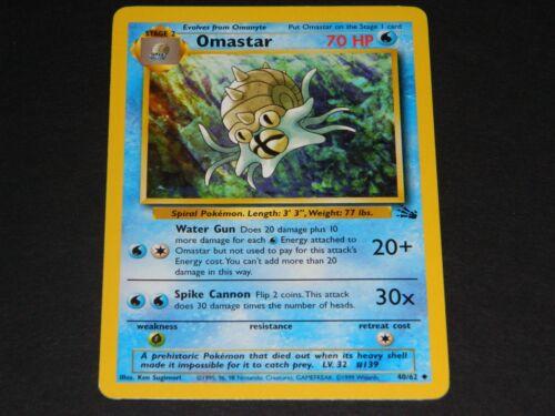 NM//M Condition Pokemon Fossil Set UN-COMMON Omastar 40//62