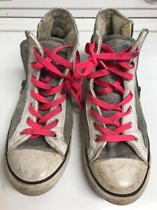 80493d014dc440 Converse Ct Side Zip Hi Shoes junior Size US 5 Silver White Pink ...