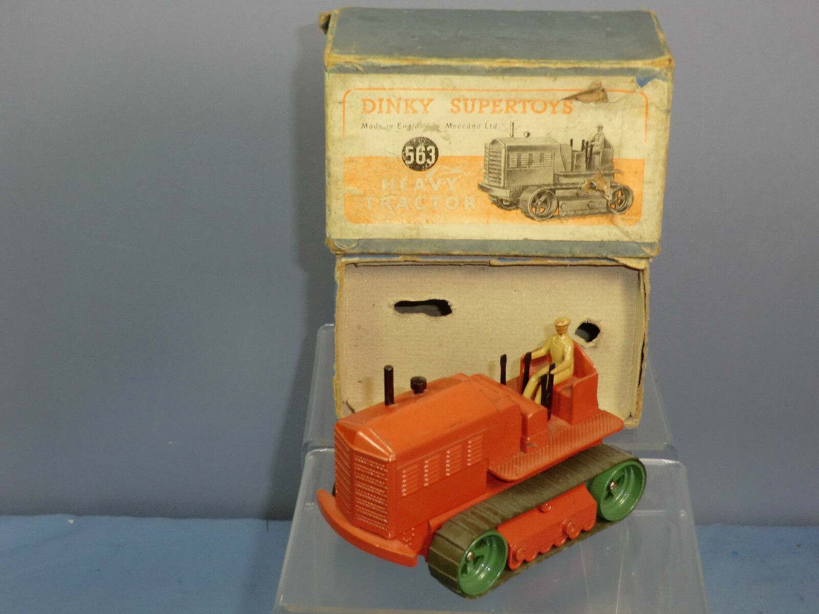 DINKY SUPERTOYS MODEL No.563 BLAW KNOX HEAVY TRACTOR   ( orange ) VN MIB