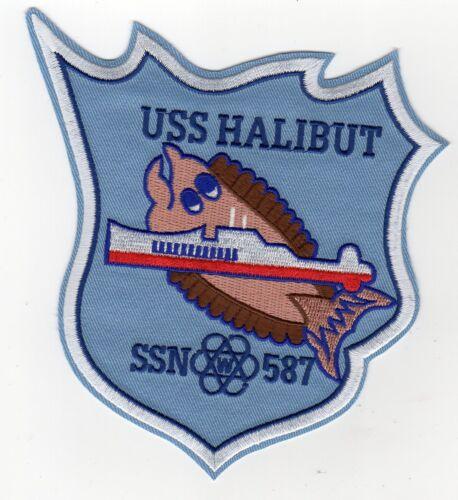 Halibut w//sub BC Patch Cat No C5293 USS Halibut SSN 587