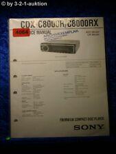 Sony Service Manual CDX C8000R / C8000RX CD Player (#4064)