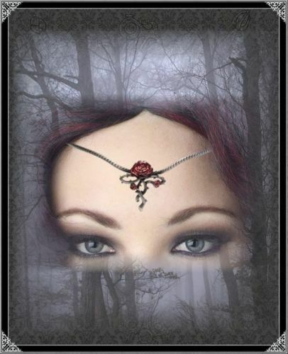 Gothic Tiara Diadem Rose Stirnschmuck Mittelalter Serena Kopfschmuck