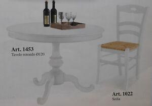 Tavolo tondo in legno bianco shabby diametro ebay