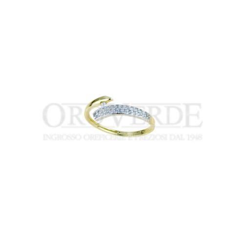 verde anelli in oro 750/% anello fantasia con pavè di zirconi  A2403G  € 120,00