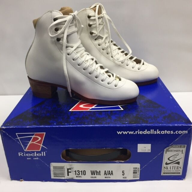 BRAND NEW RIEDELL F1310 WHITE  BOOTS ONLY SENIOR SIZE 5 A AA