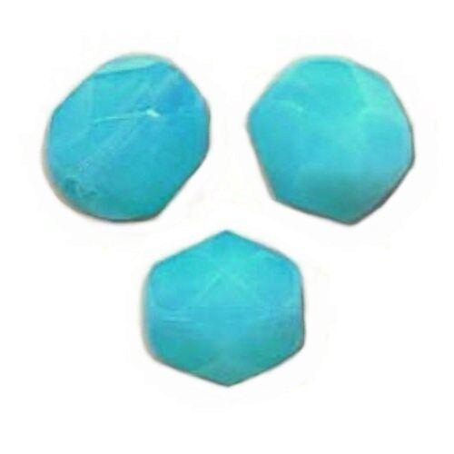 50 Perles Facettes cristal boheme 4mm AQUAMARINE MEDIUM OPAL
