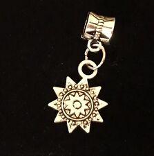 Sun Flower Dangle European Beads For Snake Chain Charm Bracelet