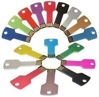 Flash Memory Thumb Stick Colorful USB 2.0 4GB 8GB 16GB 32GB Metal Key Pen Drive