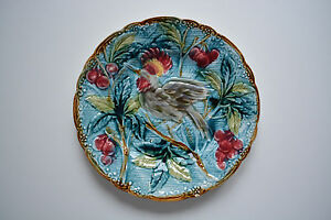 Rare Mint Antique French Majolica plate