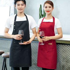 WOMENS-MENS-WORKING-APRON-OVERALL-KITCHEN-CATERING-CLEANING-BAR-POCKET-OPULENT