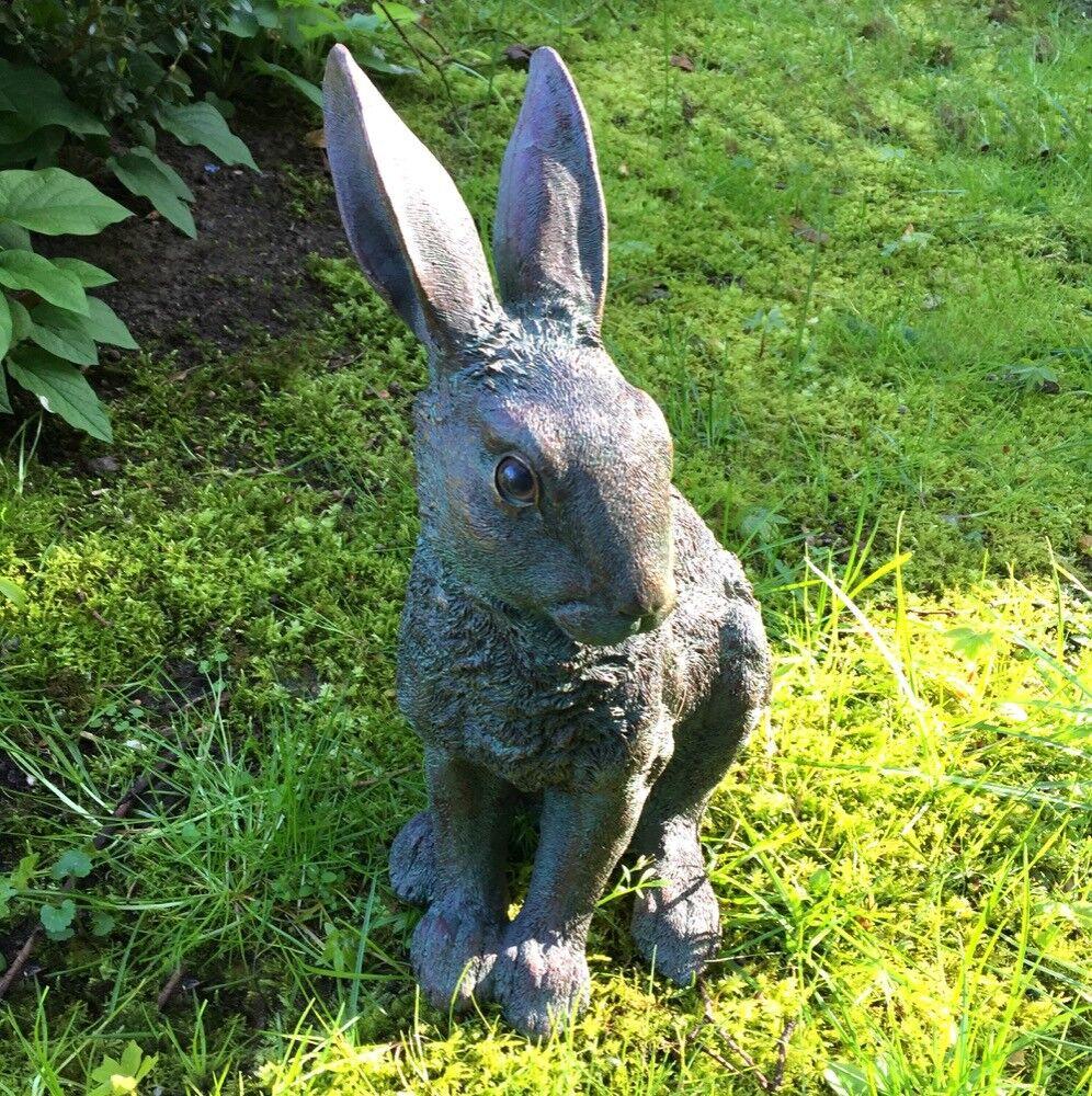 Conejos Esculturas - Figura Animal Decoración para el Jardín