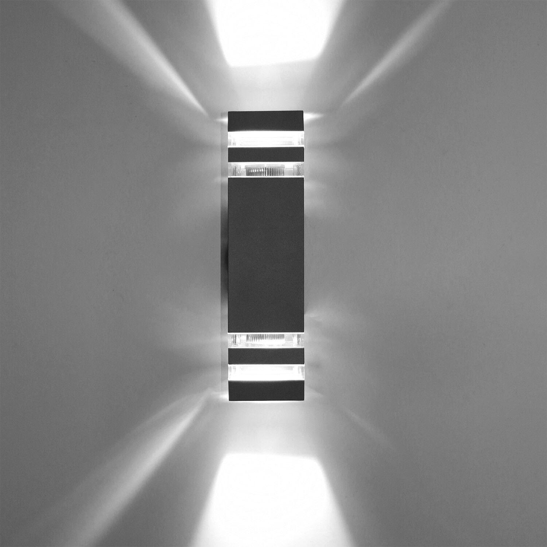8W 10W Bombilla LED E27-Accesorio de Apliques de Parojo al Aire Libre reemplazar up down light Regulable
