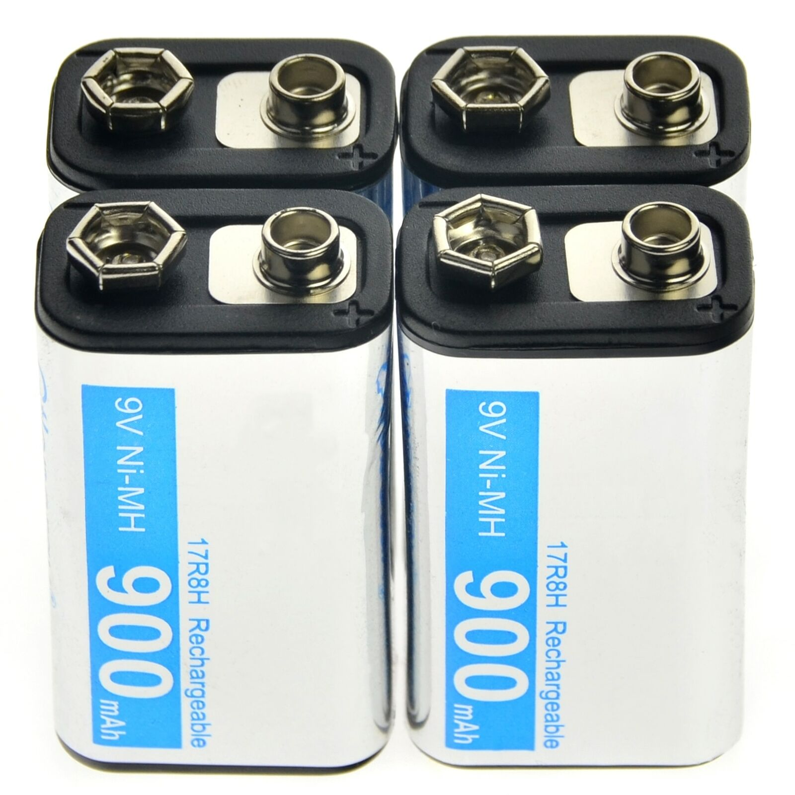 High Quality 9V 900mAh Rechargeable battery Cell Durable PPS Black NiMh